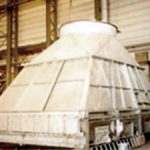 Produksjon av del til varmegjenvinningsanlegg, offshore. Laget i rustfritt materiale.